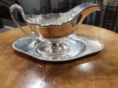 Silver Plated Sauce Boat & Drip Tray By Harrods
