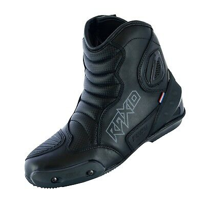 Real Leather High Tech Mens Motorcycle Motorbike Racing Short Sports Boots Shoes