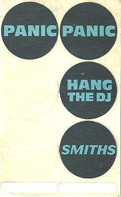 The Smiths 4 rare original stickers, 1980's indie,Morrissey,Panic