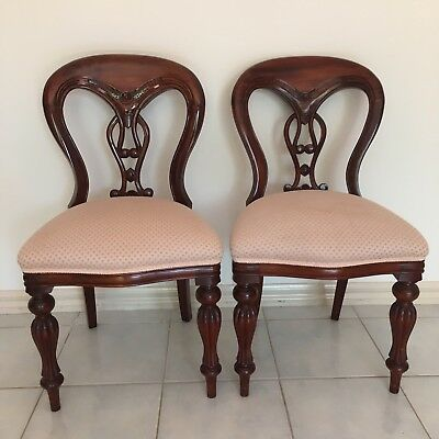 2 X Solid Timber Balloon Chairs