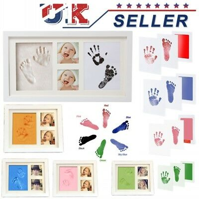 UK 2D&3D Baby Newborn Hand and Foot Print Kit Photo Frame Unique Keepsake Gifts