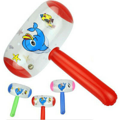 Cartoon Inflatable Hammer Air Hammer With Bell Kids Children Blow Up Toys MW