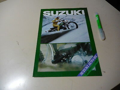 SUZUKI LINE UP Japanese Brochure Hustler250 Wolf90 T500 T350 TC120