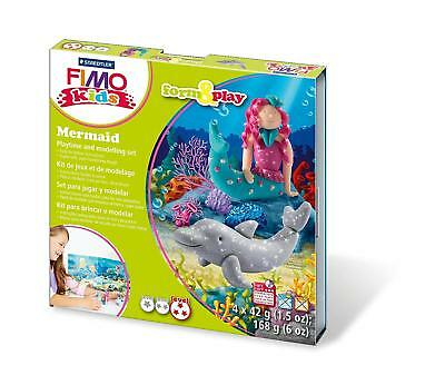 Fimo Kits For Kids Form & Play Polymer Modelling Oven Bake Clay - SET MERMAID