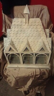 Ornate Bird Cage wood victorian style hanging planter very solid