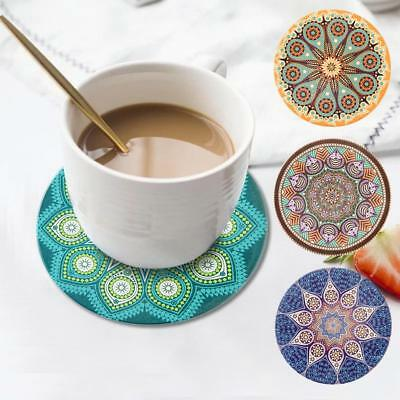 Bohemian Style Coaster Ceramic Coffee Cup Mat Non-slip Absorbent For Home Bar