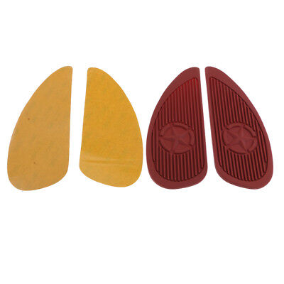 Brown Rubber Fuel Tank Traction Pads Side Knee Protector for Honda