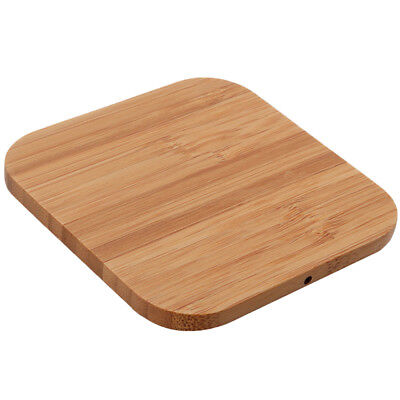 Elegant Bamboo Wood Wireless Charging Pad for iPhoneX Samsung S7/S7 Edge/S6