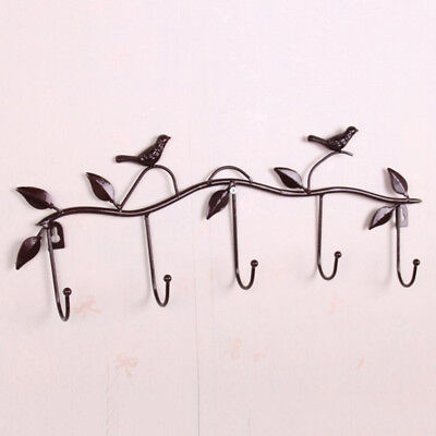 Iron Wire Rack Wall Bedroom Kitchen Hanging Basket Shelves Antique Brass