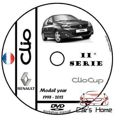 MANUALE OFFICINA RENAULT CLIO MK2 my 1998 - 2012 SERVICE WORKSHOP MANUAL