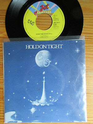 "7"" ELO : HOLD ON TIGHT / WHEN TIME STOOD STILL   Vinyl Single 1981 + PV Cover"