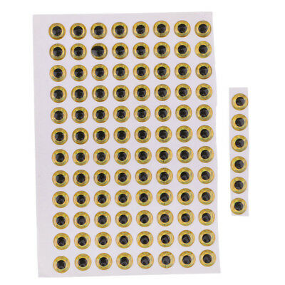 100x Realistic DIY Fish Eyes 3D Holographic Lure Eyes 7mm/8mm/9mm/10mm/12mm