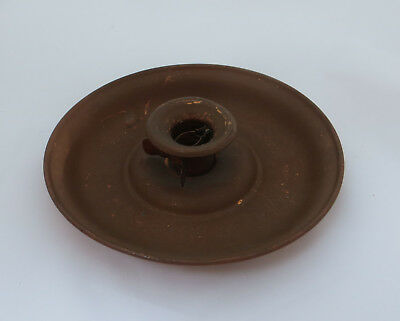 Candle Holder / Go-To-Bed Style Candlestick -  J S & S Solid Copper ( Sankey ?)
