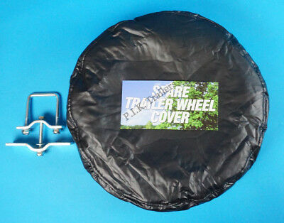 "Spare Wheel Carrier Holder & PVC Wheel Cover  for 8"" Trailer Wheel"