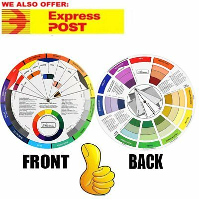 ARTIST OIL ACRYLIC POCKET COLOUR WHEEL PAINT MIXING GUIDE PAINTING ART smll A~