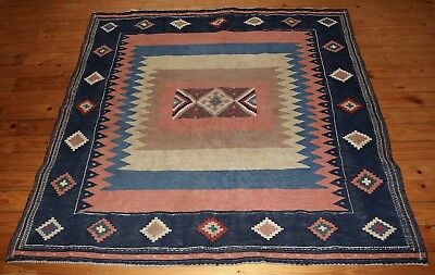 "Rare Antique 4' 6"" x 4' 7"" Tribal Sofreh Eating Cloth From Persia  Free Shipping"