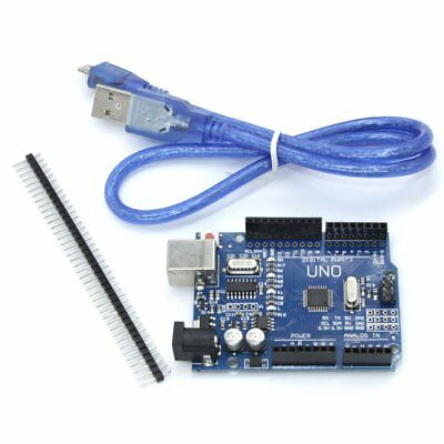 For Arduino With USB Cable Development Board Durable UNO R3 ATmega328P AU