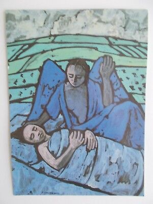 "Vatican Museums Art Postcard ""Angel in the Night"" by Felica Casorati 6 1/2x4 3/4"
