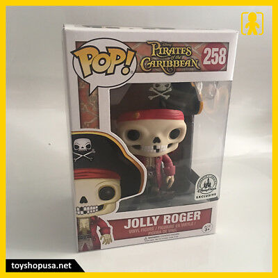 Disney Pirates Of The Caribbean Jolly Roger #258 Pop Vinyl Figure Funko