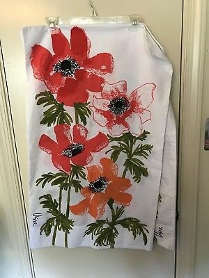 Vintage set 2 signed Vera Neumann poppies pillowcases king sized unused