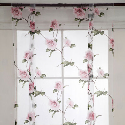 Lovely Tie-up Roman Curtain for Small Window Curtain Shade Sheer Drape Voile