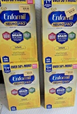 LOT OF (4) Enfamil NeuroPro Infant Formula - Brain Building  Inspired by Breast