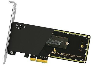 Angelbird Wings Performance Adapter NVME AHCE kompatibel PCI-e x4-M.2 WPX1-FWKF