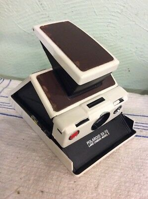 Polaroid Sx-70 Land Camera Model  2 Ivory With Brown Leather