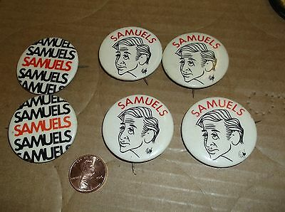 Lot of 6 Howard Samuels New York City Campaign Pin Button Free Shipping