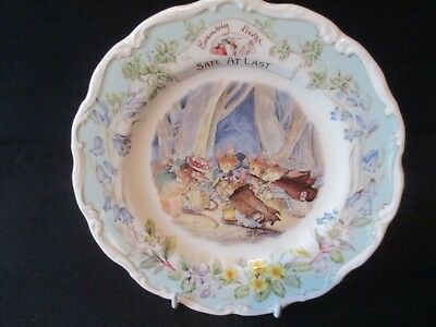 , Brambly Hedge, Safe At Last  8 ,1/4 in Plate. Primroses Adventure  SERIES