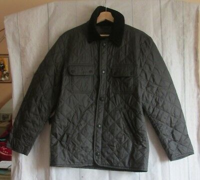 // Barbour Men's Quilted Jacket Dark Grey Size S Small
