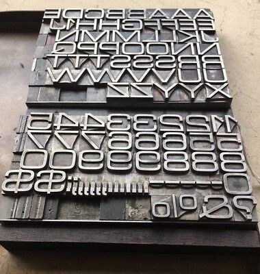 36 pt. MICROGRAMMA EXTENDED -- Caps Font + Figures -- Letterpress Foundry Type