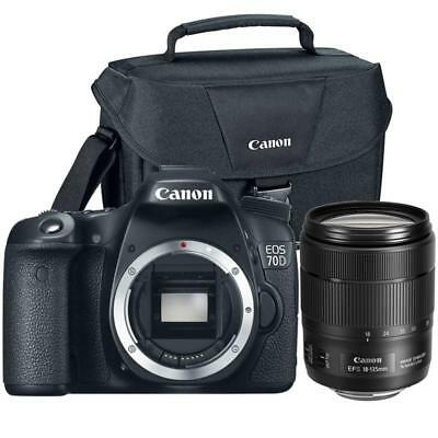 Canon EOS 77D DSLR Camera with 18-135mm USM Lens and Camera Case