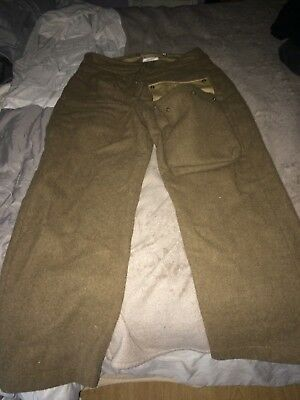 WWII British BD Para Trousers by What Price Glory, sz. 36 Battle Dress