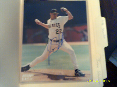 Jason Schmidt Mlb Star Hand Signed Color 8X10 Pittsburgh Pirates