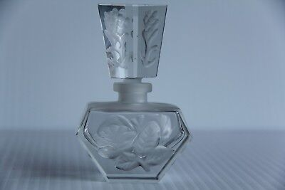 Vintage Art Deco Style Opaque Glass Perfume Bottle