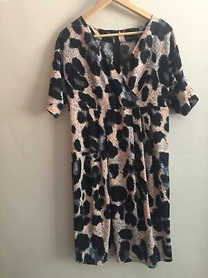 ASOS Maternity Animal Print Dress Size 10 Excellent Condition