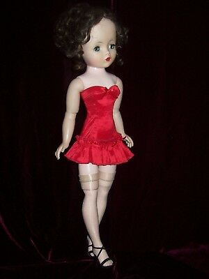 Red Hot Stretch Satin Corselet  ~ For Madame Alexander Cissy Doll
