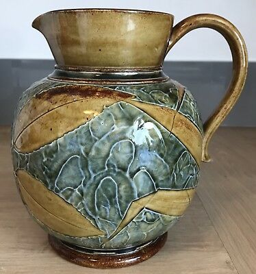 Doulton Lambeth Autumn Leaves Jug Initialled  Ethel Beard