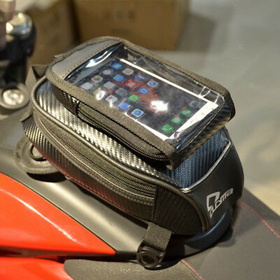 Magnetic Motorcycle MotorBike Travel Saddlebag Phone Bag Oil Fuel Tank Bag
