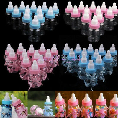 12X Fillable Bottles Candy Box Baby Shower Baptism Party Favour Christening Gift