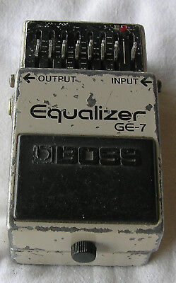 1980's Boss GE-7 Eq Equalizer Japan Untested As is for parts No Reserve