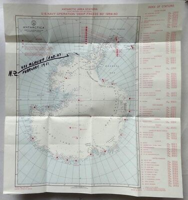 Antarctic 1961 Operation Deep Freeze cover MAP & letter