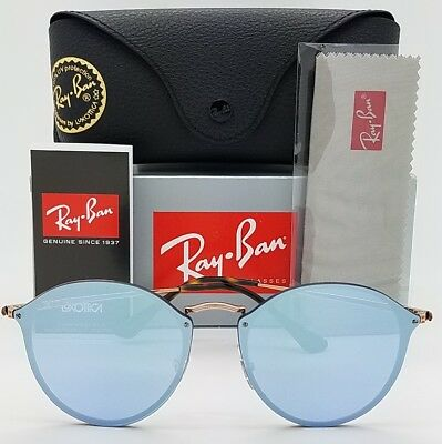 e0a0ef92e7 NEW Rayban Blaze Round sunglasses RB3574N 90351U Copper Violet 3574 purple  blue