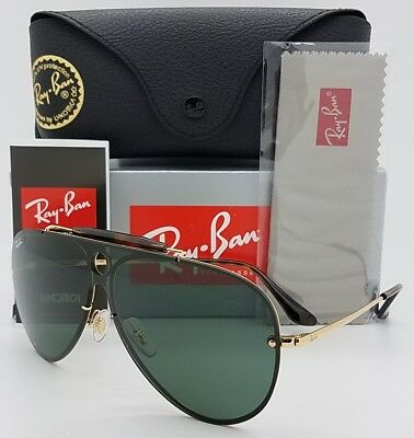 NEW Rayban Blaze Shooter sunglasses RB3581N 001 71 Gold Grey 3581 G15  Aviator 11808c1464
