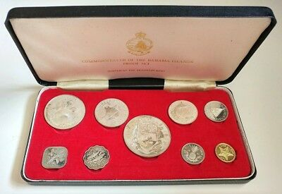 1971 Commonwealth of the Bahama Islands 9 Coin SILVER Proof Set #coinsofcanada
