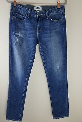Paige Denim Jessi Tear & Repair Skyline Ankle Skinny Size 29