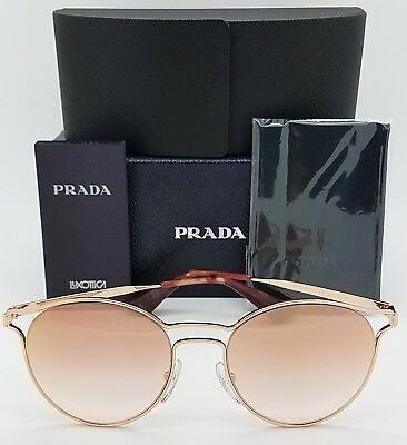 dae2484879 New Prada sunglasses PR62SS SVFAD2 Cinema Rose Gold Pink Mirror Round 53mm  62SS