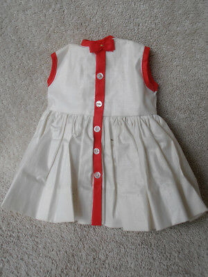 Vintage Madame Alexander Tagged Red White Sleeveless Doll Dress 50's or 60's?