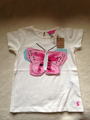 Joules Girls top with pretty butterfly design. Age 18-24m. NWT